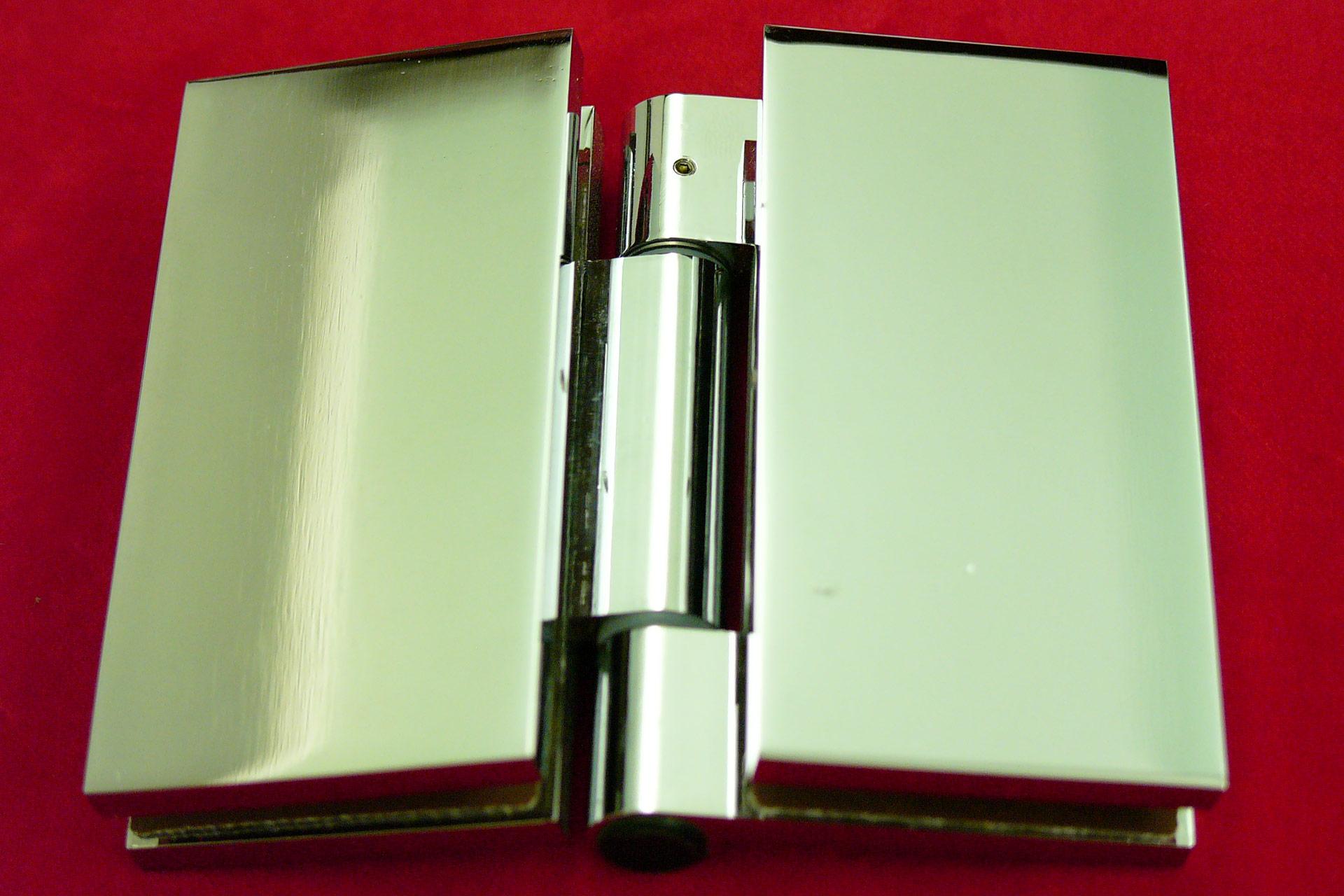 charnière de porte verre-verre