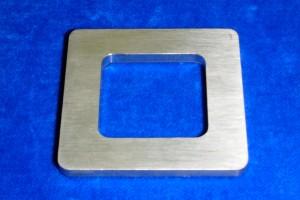 poignée anneau double carrée porte coulissante